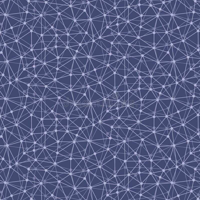 Modèle sans couture de réseau informatique illustration stock