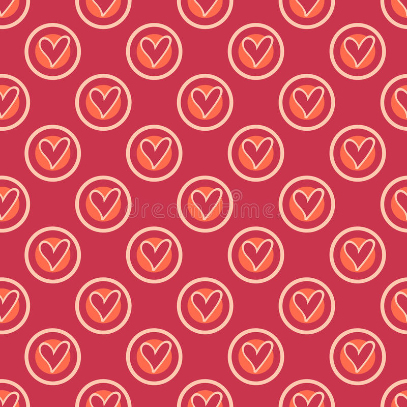 Modèle sans couture de rétro coeur illustration libre de droits