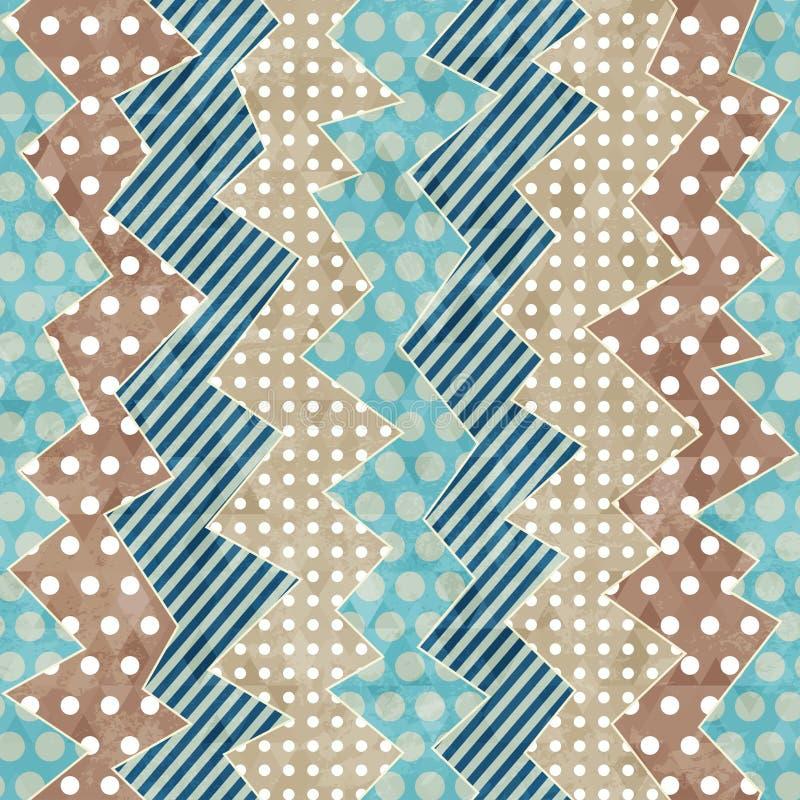 Modèle sans couture de rétro tissu avec l'effet grunge illustration libre de droits