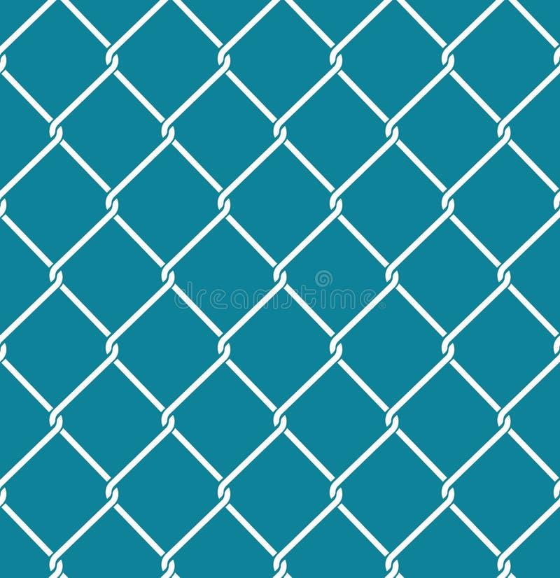 Modèle sans couture de Rabitz Ornement de fabrication de maille Backg de barrière de maille illustration de vecteur