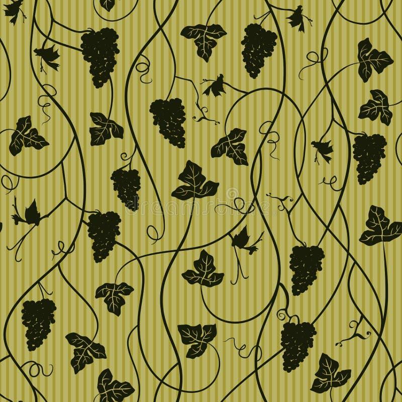 Modèle sans couture de raisin, papier peint illustration libre de droits