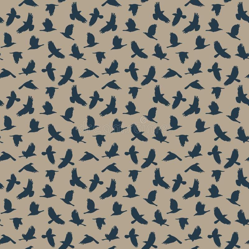 Modèle sans couture de Raven illustration stock