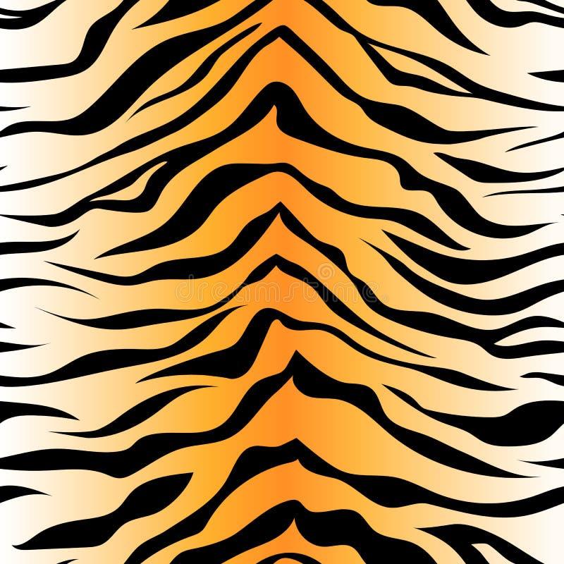 Modèle sans couture de rayure de tigre PRI de fond de peau d'animal de vecteur illustration de vecteur