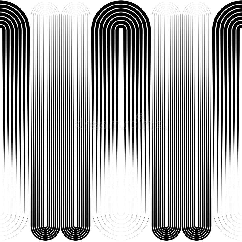 Modèle sans couture de rayure verticale et d'ellipse illustration libre de droits