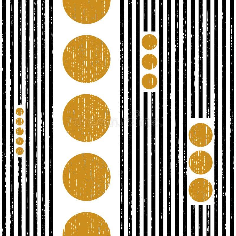 Modèle sans couture de rayure verticale et de cercle illustration de vecteur