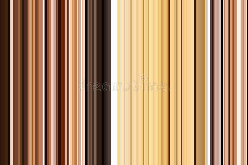 Modèle sans couture de rayures d'en cuivre de bronze de café de Brown Fond abstrait d'illustration Couleurs modernes élégantes de illustration de vecteur