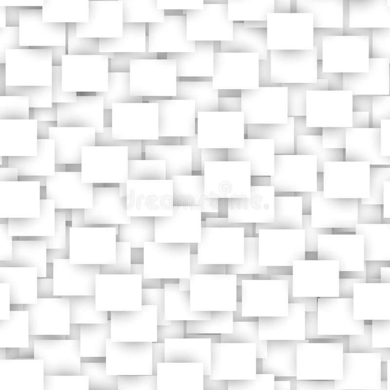Modèle sans couture de rectangle blanc illustration de vecteur
