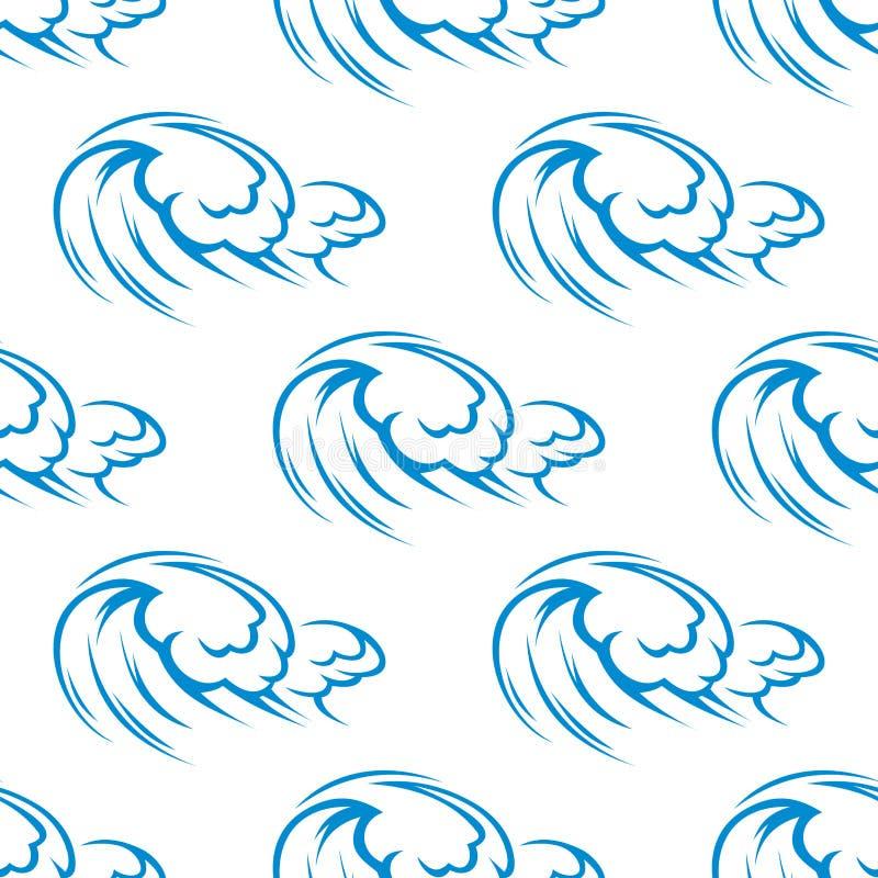 Modèle sans couture de ressacs bleus illustration libre de droits