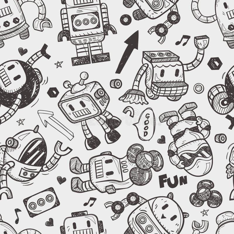 Modèle sans couture de robot illustration libre de droits