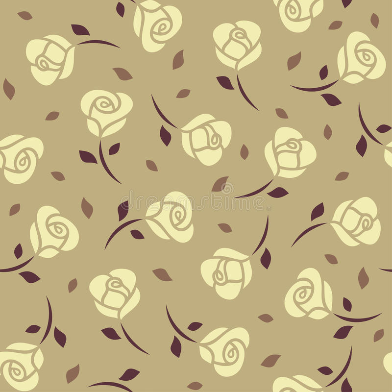 Modèle sans couture de roses jaunes illustration libre de droits