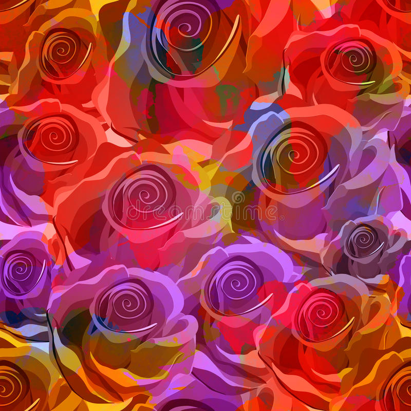 Modèle sans couture de roses. Vecteur, ENV 10 illustration stock