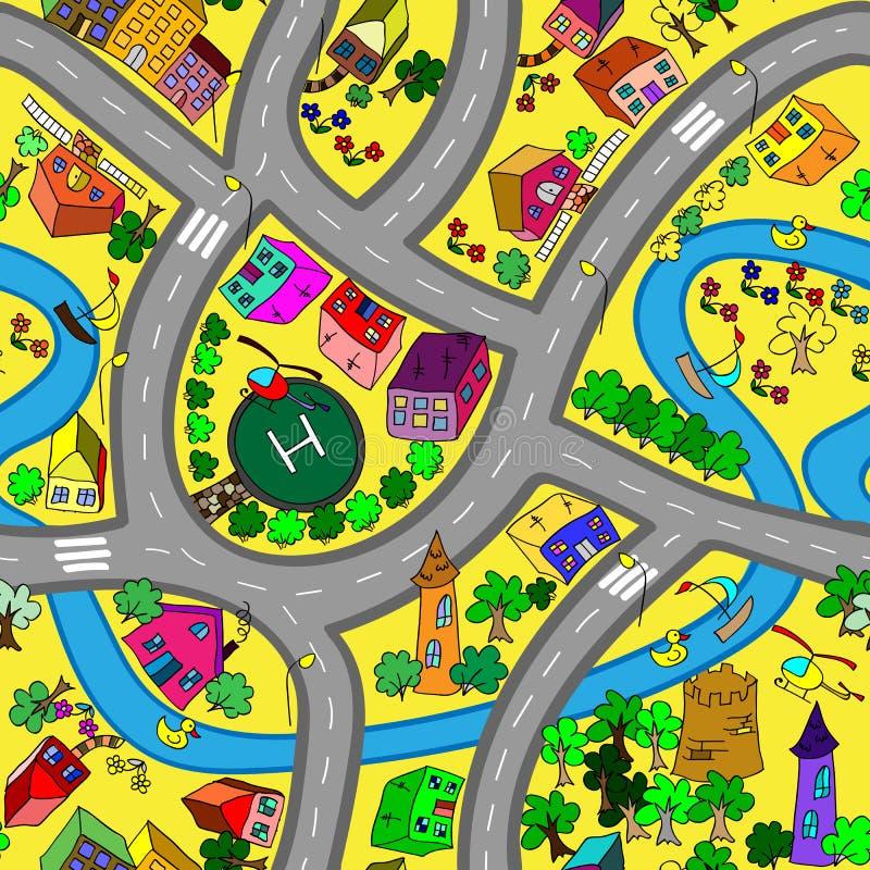 Modèle sans couture de route illustration de vecteur