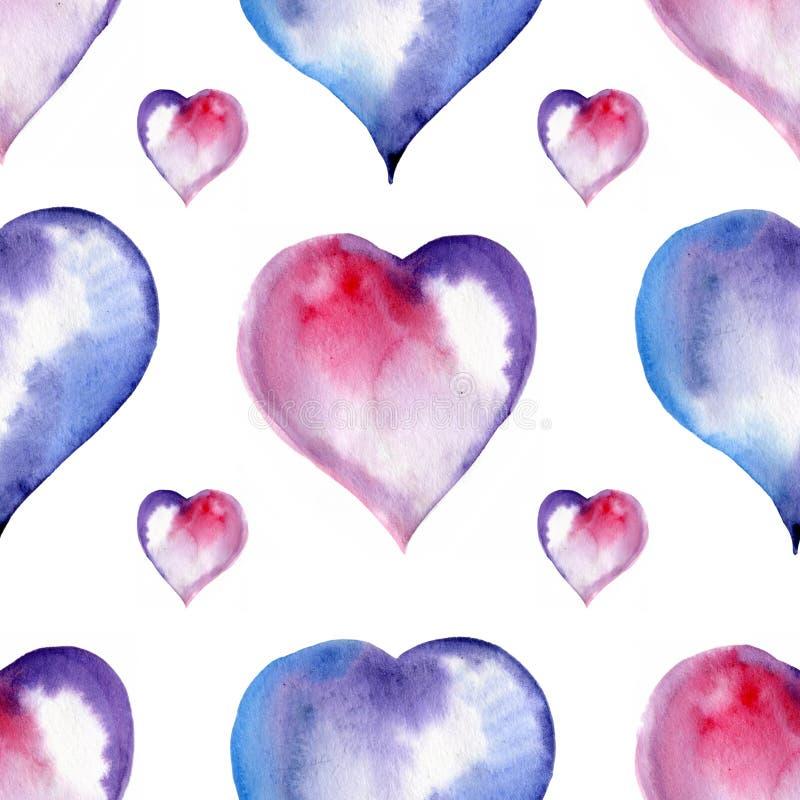Download Modèle Sans Couture De Saint Valentin Des Coeurs, Aquarelle Illustration Stock - Illustration du tissu, amusement: 77157975