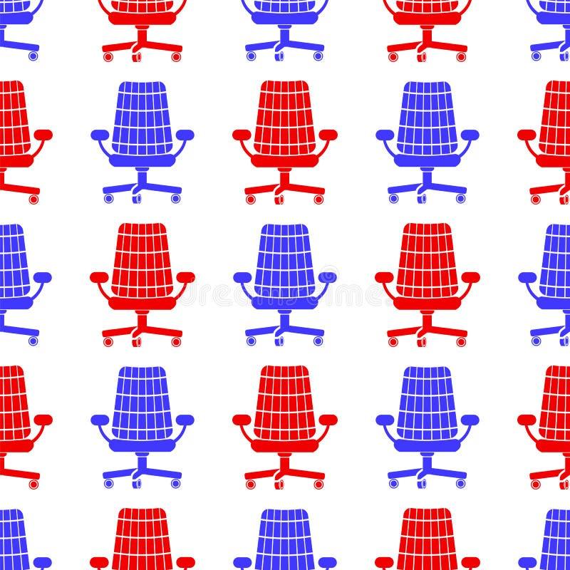 Modèle sans couture de silhouette bleue rouge illustration libre de droits