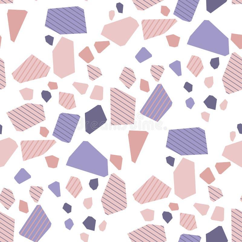 Modèle sans couture de sol de mosaïque décoratif de résumé illustration de vecteur