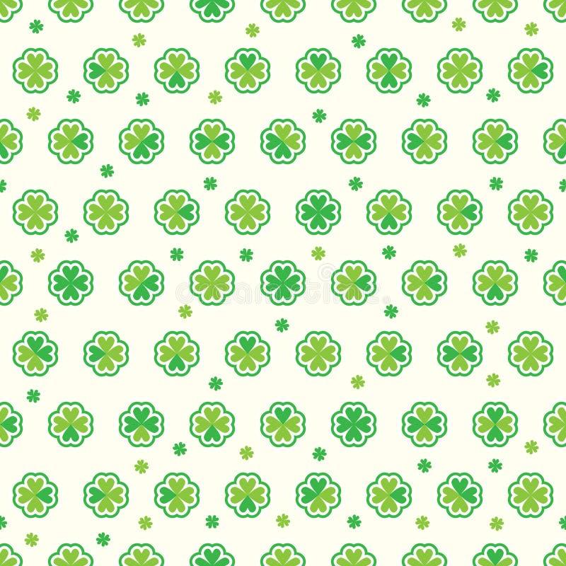 Modèle sans couture de St Patrick d'autocollant vert d'amour illustration de vecteur