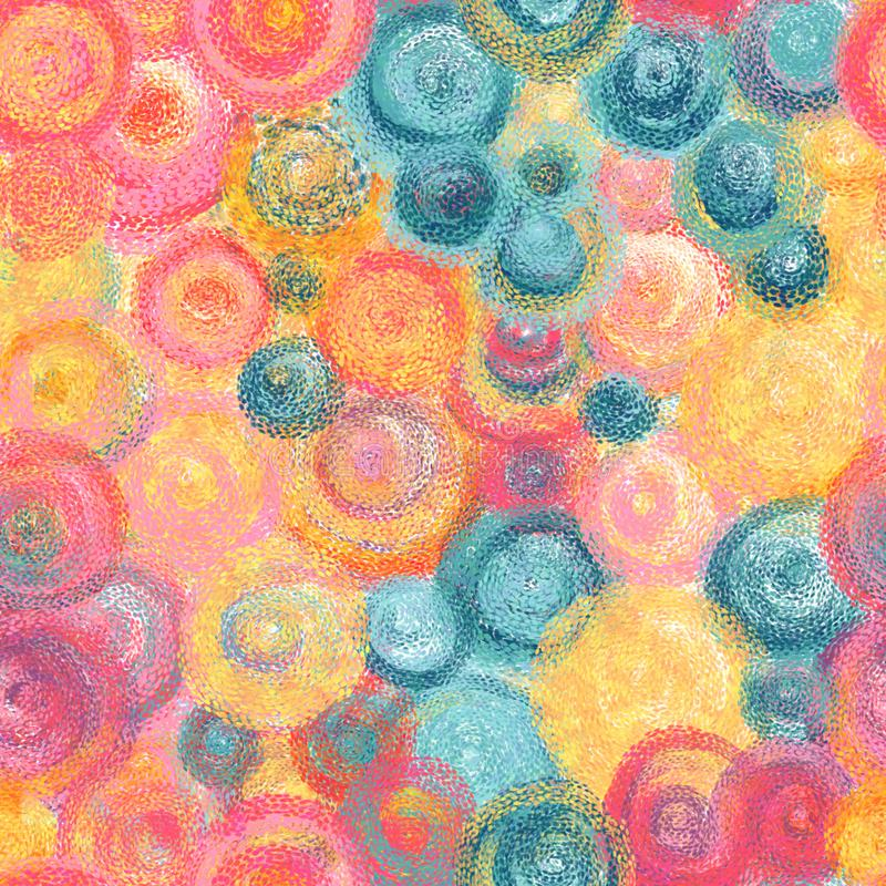 Modèle sans couture de style impressionniste coloré Fond tiré par la main de peinture à l'huile images stock