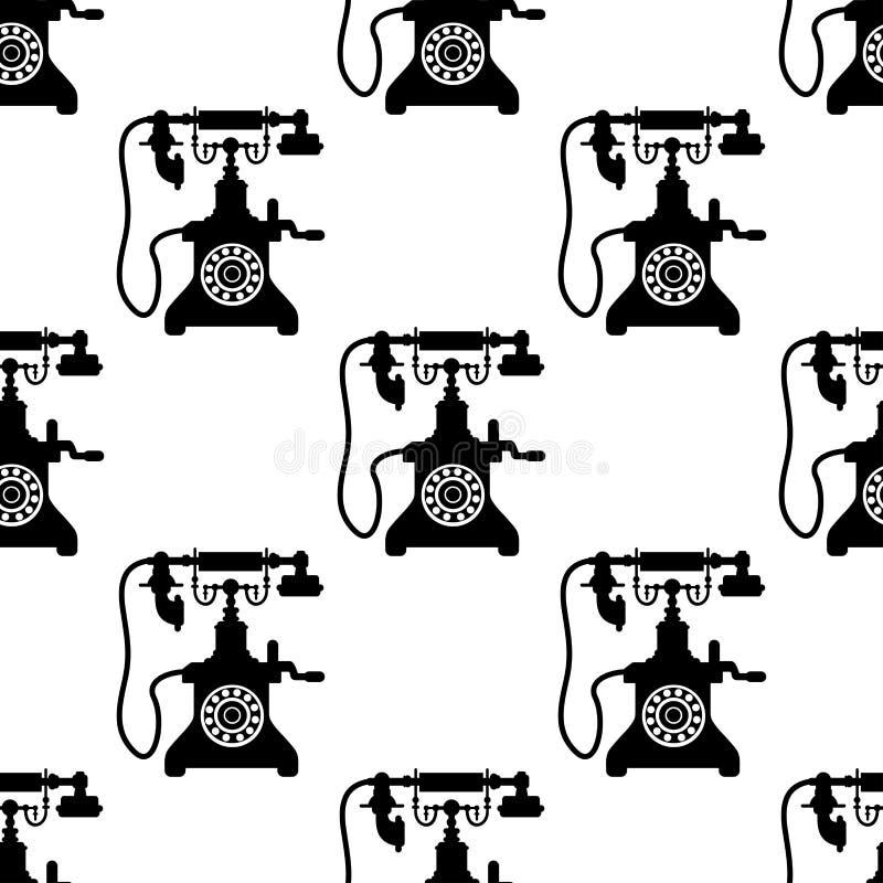 Modèle sans couture de téléphone de vintage illustration libre de droits