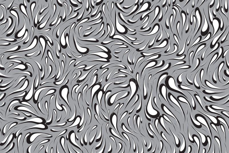Modèle sans couture de tache abstraite Fond de tache de remous illustration libre de droits