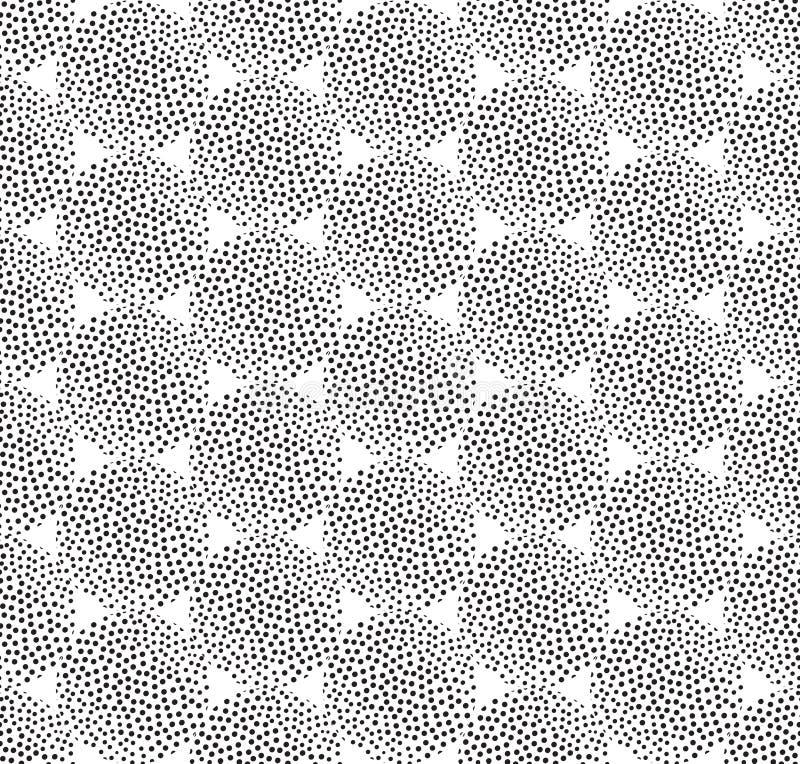 Modèle sans couture de tache abstraite Texture pointillée par circulaire illustration libre de droits