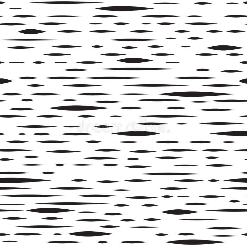 Modèle sans couture de tache irrégulière abstraite Rayure noire et blanche illustration libre de droits
