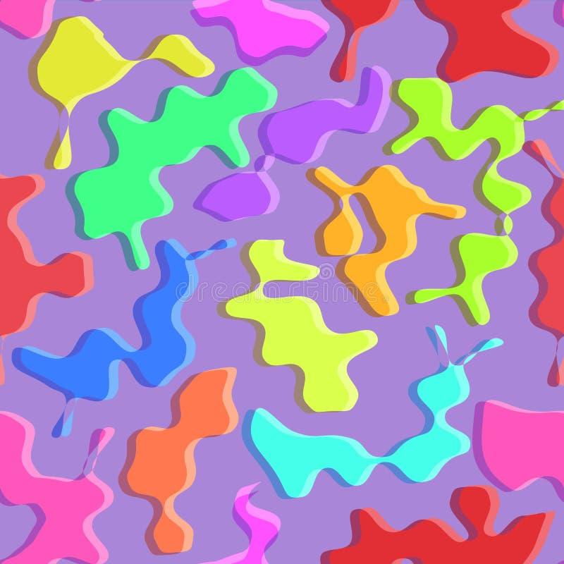 Modèle sans couture de taches colorées abstraites illustration stock