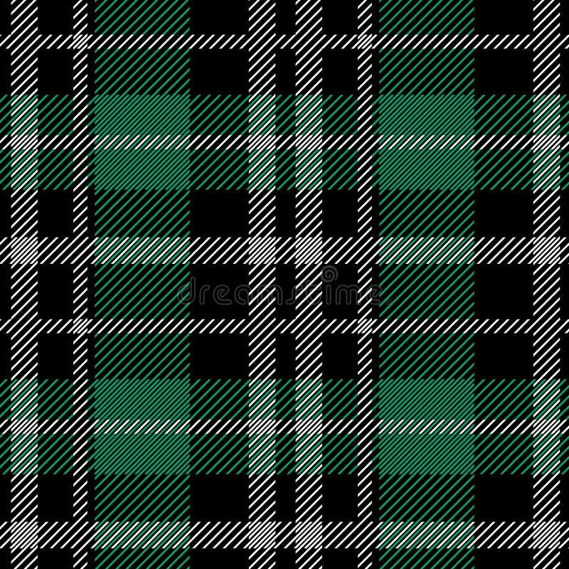 Modèle sans couture de tartan irlandais images libres de droits
