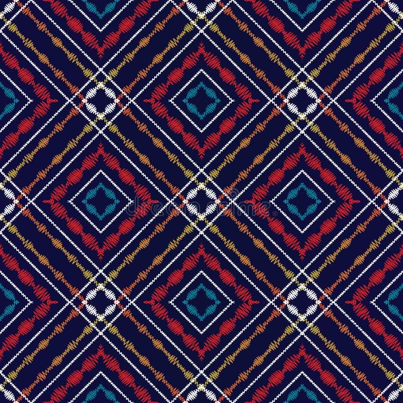 Modèle sans couture de tartan de tapisserie Backg vérifié géométrique de vecteur illustration libre de droits