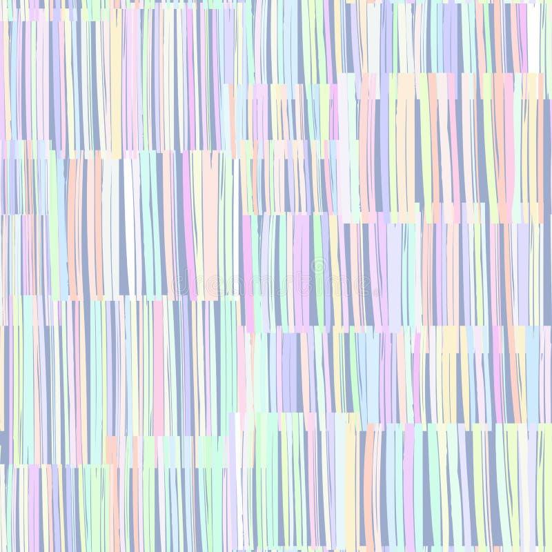 Modèle sans couture de texture abstraite Rayures colorées aléatoires illustration libre de droits