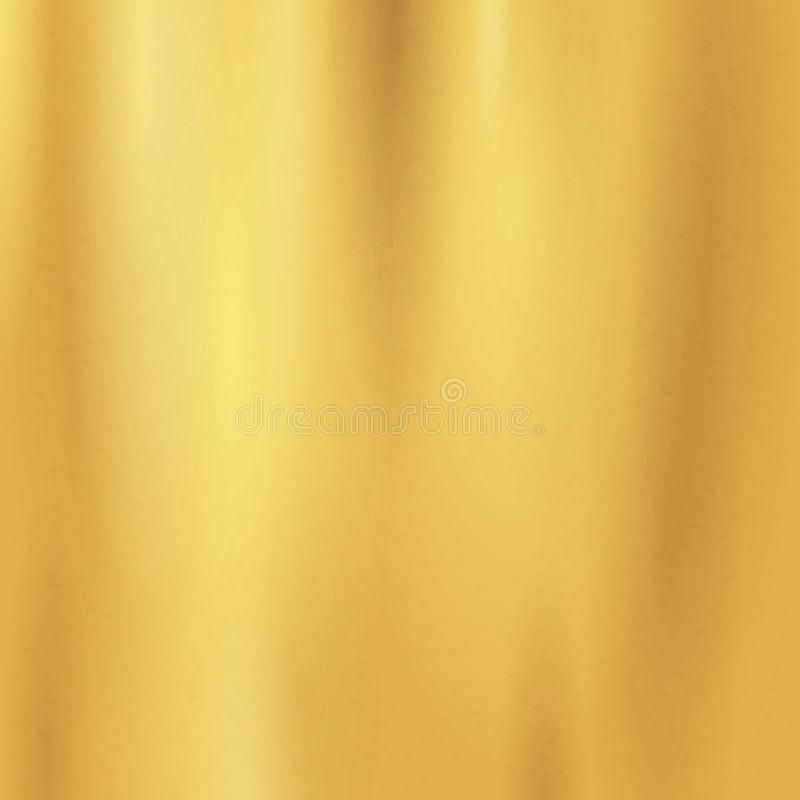 Modèle sans couture de texture d'or Calibre d'or vide réaliste, brillant, métallique léger de gradient abs illustration libre de droits