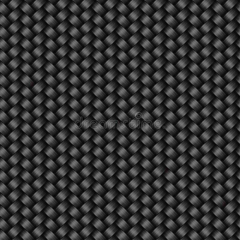 Modèle sans couture de texture de fibre de carbone illustration stock