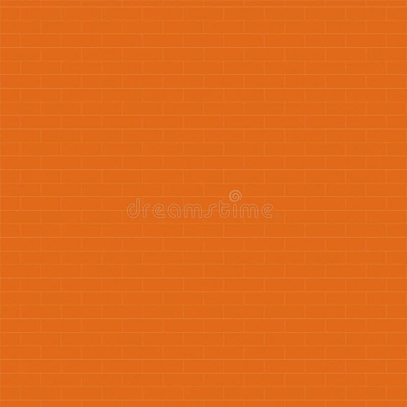 Modèle sans couture de texture orange de mur de briques, fond abstrait, illustration libre de droits