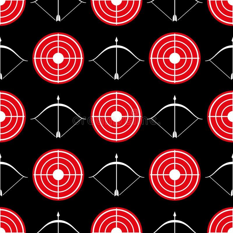 Modèle sans couture de tir à l'arc - cible sans couture de rouge de texture illustration stock