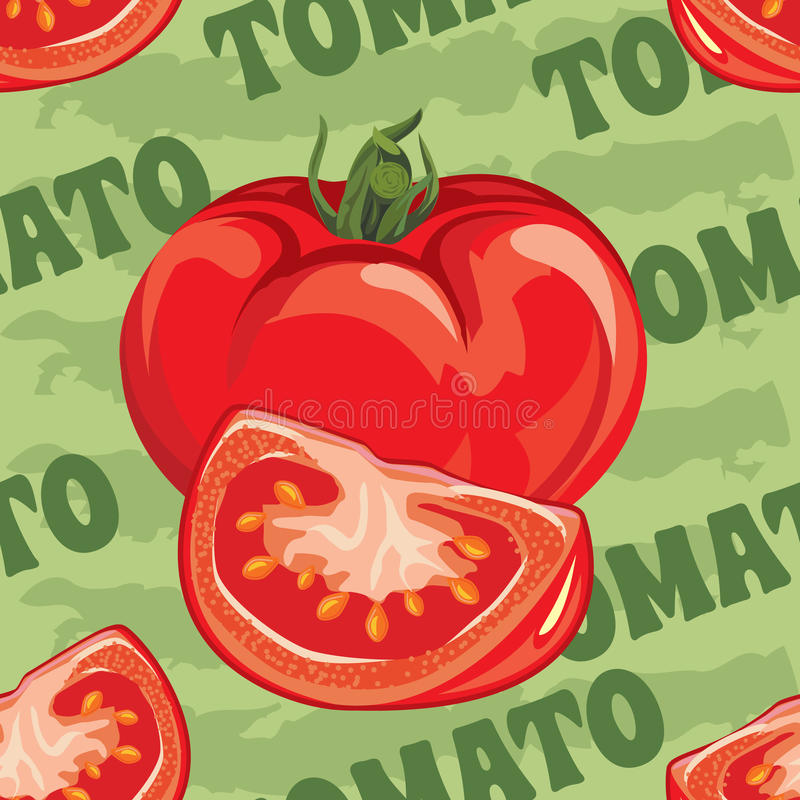Modèle sans couture de tomate rouge mûre illustration libre de droits