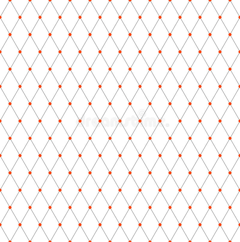 Modèle sans couture de trellis de diamants Texture géométrique de maille illustration libre de droits