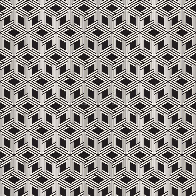 Modèle sans couture de trellis de vecteur Texture élégante moderne avec le treillis monochrome Répétition de la grille géométriqu photo libre de droits