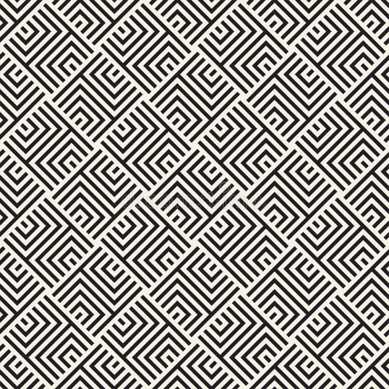 Modèle sans couture de trellis de vecteur Texture élégante moderne avec le treillis monochrome Répétition de la grille géométriqu photos libres de droits