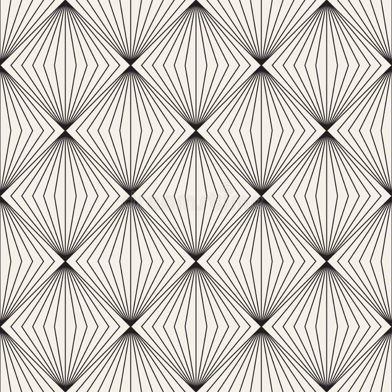 Modèle sans couture de trellis de vecteur Texture élégante moderne avec le treillis monochrome Répétition de la grille géométriqu images stock
