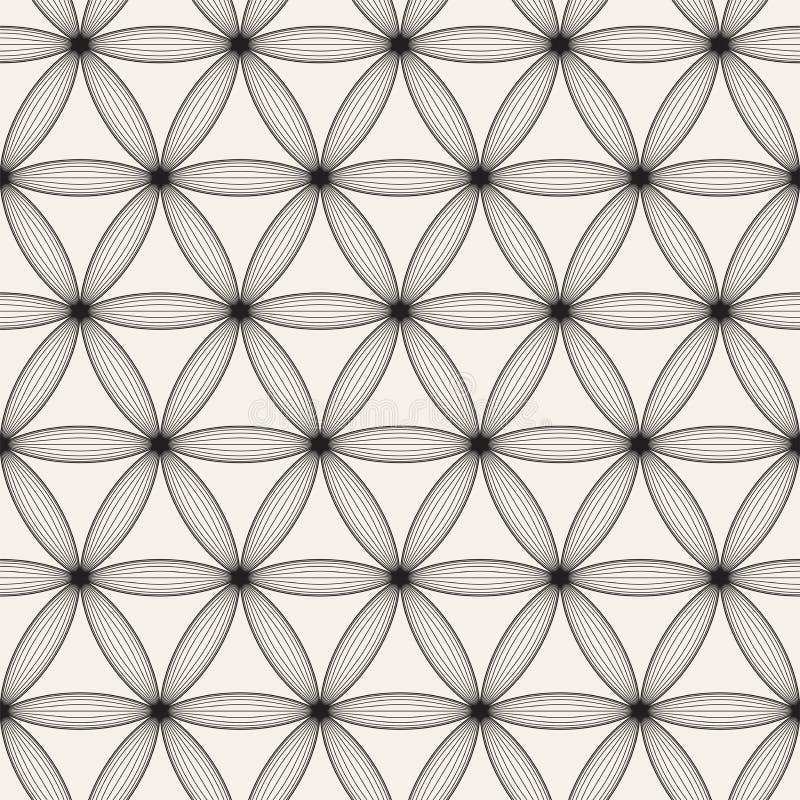 Modèle sans couture de trellis de vecteur Texture élégante moderne avec le treillis monochrome Répétition de la grille géométriqu image libre de droits