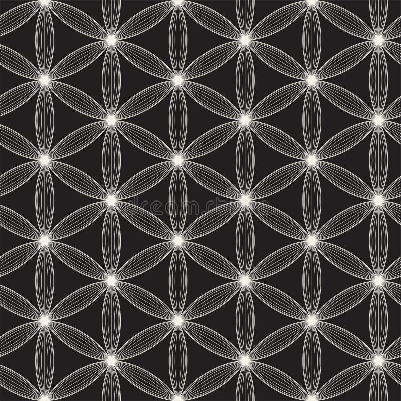 Modèle sans couture de trellis de vecteur Texture élégante moderne avec le treillis Répétition de la grille géométrique Fond simp image libre de droits