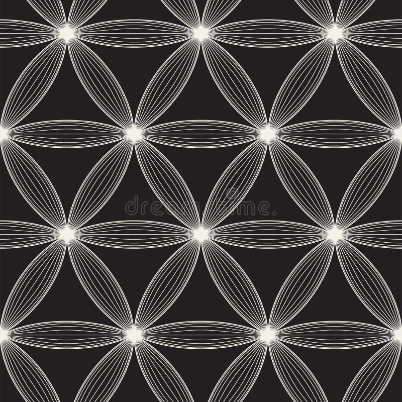 Modèle sans couture de trellis de vecteur Texture élégante moderne avec le treillis Répétition de la grille géométrique Fond simp photos stock