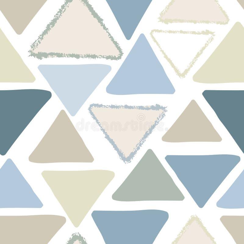 Modèle sans couture de triangle coloré par neutre de vecteur illustration stock