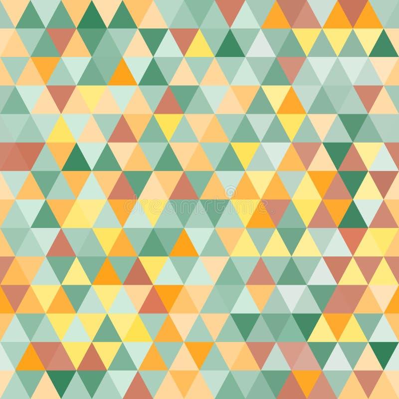 Modèle sans couture de triangle géométrique abstraite illustration de vecteur