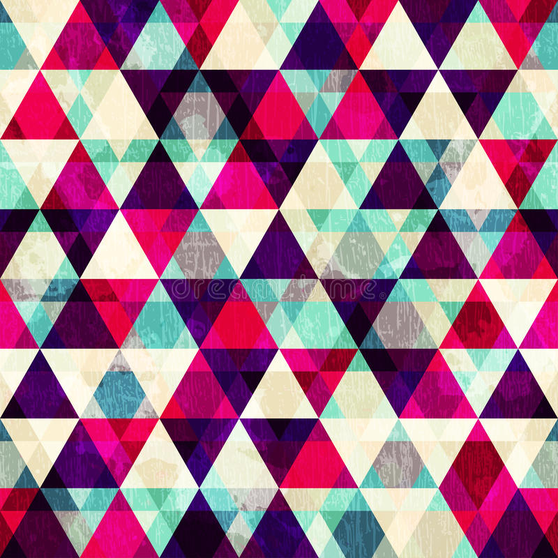 Modèle sans couture de triangle rouge grunge illustration de vecteur