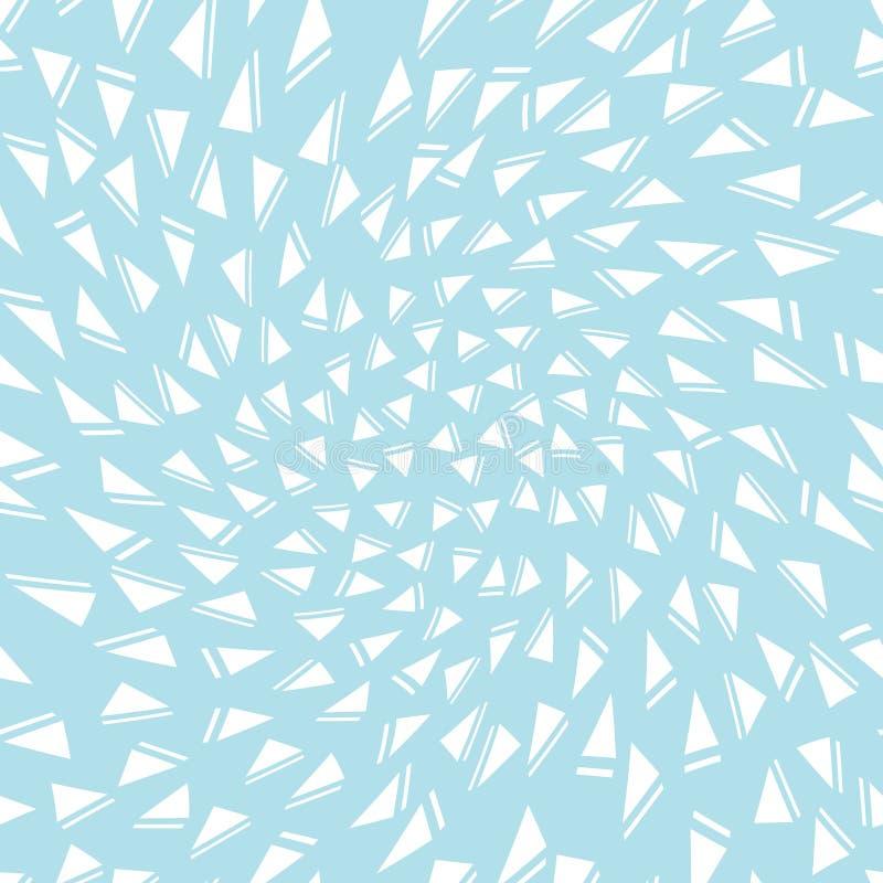 Modèle sans couture de triangle de style de Memphis illustration libre de droits