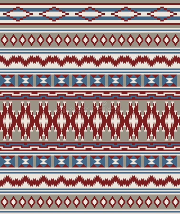 Modèle sans couture de tribal d'Indiens d'Amerique illustration libre de droits