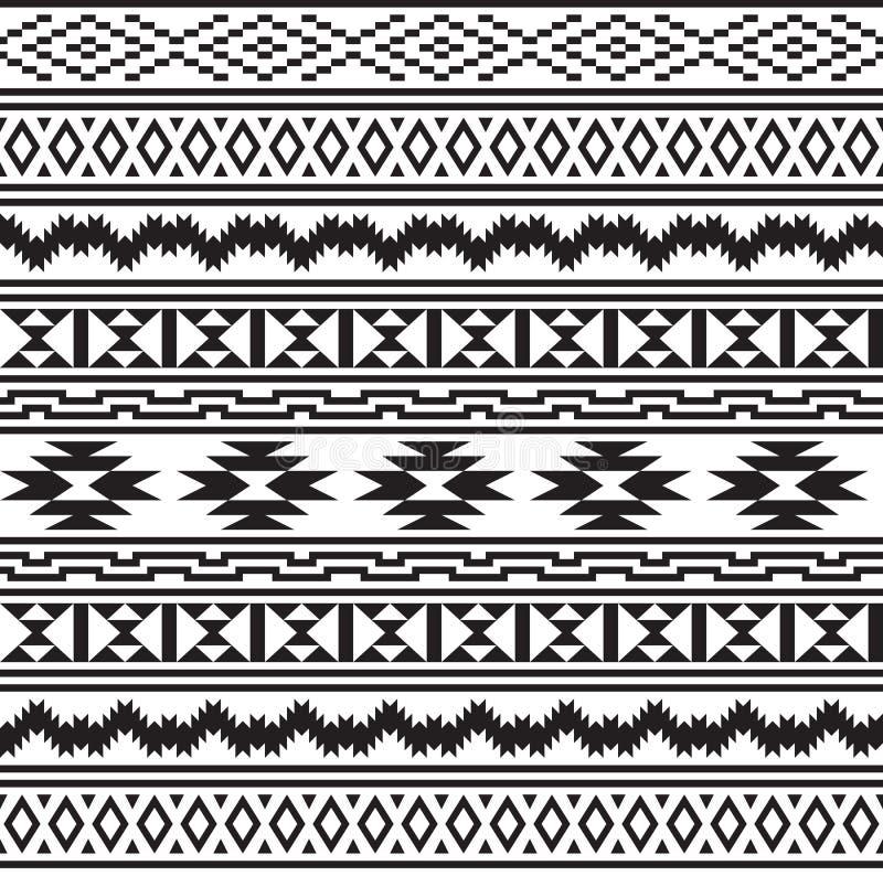 Modèle sans couture de tribal d'Indiens d'Amerique illustration de vecteur