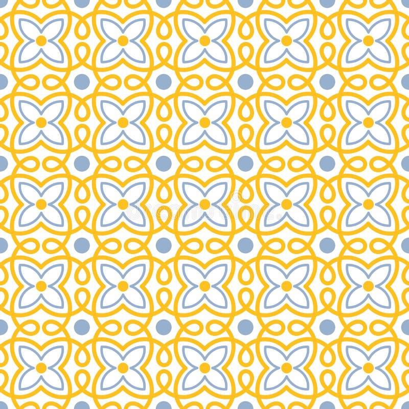 Modèle sans couture de tuile de remous de fleur illustration stock