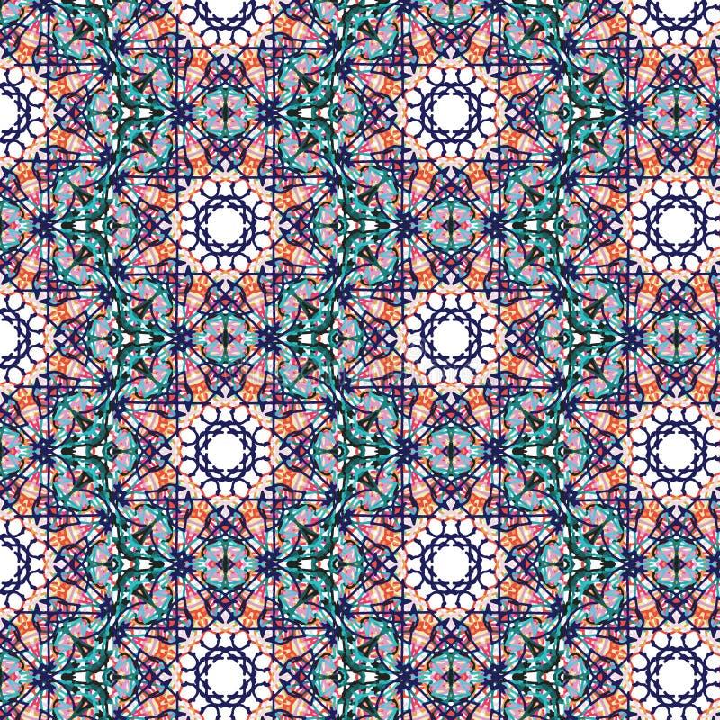 Modèle sans couture de tuile kaléïdoscopique illustration stock
