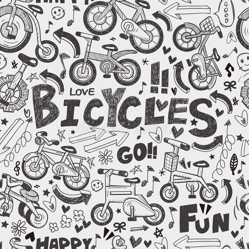 Modèle sans couture de vélo illustration de vecteur